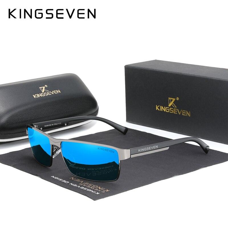 KINGSEVEN 2021 nouvelles lunettes De soleil polarisées hommes femmes conduite carré lunettes hommes lunettes De soleil mâle lunettes UV400 Gafas De Sol
