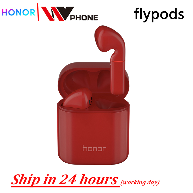 Honor Flypods Wireless Waterproof Dynamic earphone Wireless Charge with Mic Music Touch Double Tap Control