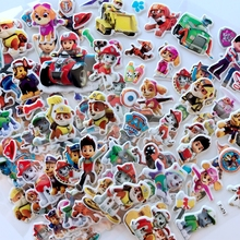 цена 10pcs/set Paw patrol dog Sticker toy Patrulla Canina Action Figures Toy Kids Children Toys Gifts онлайн в 2017 году