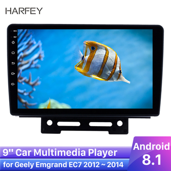 Harfey GPS Navi Android 8.1 HD Car Stereo for Geely Emgrand EC7 2012 2013 2014 3G WiFi AM FM AutoRadio USB AUX support 1080P DVR