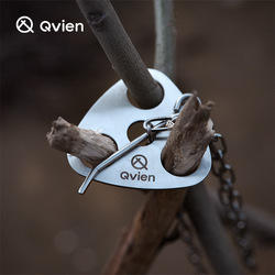 Tripod Ring Outdoor Camping Portable Triangular Hanging Pot Bracket Stainless Barbecue Rack Picnic Multifunctional Ring Hook