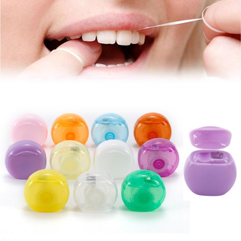 1 Rolls 10m Dental Flosser Oral Hygiene Teeth Cleaning Polyester Dental Floss Spool Toothpick Teeth Flosser Tooth Cleaning Tools