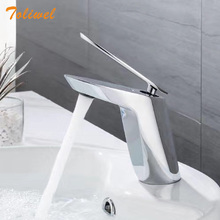 цена на Brass Bathroom Faucet Sink Basin faucets Mixer Taps Cold Hot Water Single Handle Chrome Finish