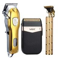 2021 tagliacapelli Set tagliacapelli elettrico rasoio Cordless Trimmer 0mm uomo barbiere tagliatrice di capelli per uomo ricaricabile
