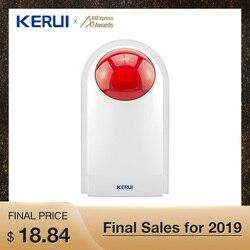 Kerui J008 Flash Siren External Outdoor Waterproof Siren Sound Strobe Flash Alarm Siren Wifi GSM Home Security Alarm System