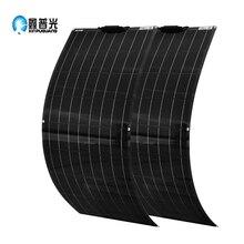 Xinpuguang Новая Гибкая солнечная панель 100 Вт 200 Вт 12 в 18 в, зарядное устройство для батареи, моноэлемент для 1000 Вт, домашняя система, комплект для автомобиля, лодки, путешествий, RV