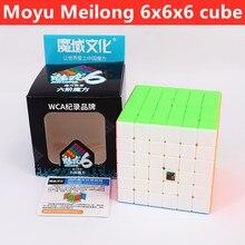 Cubo mágico 6x6x6 cubo 6x6 velocidade moyu quebra-cabeça cubo mágico