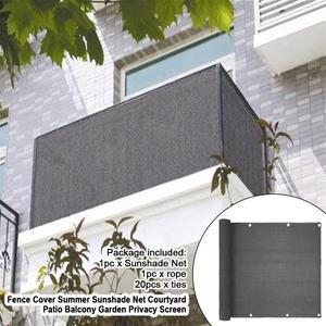 Pantalla de privacidad para Patio, balcón, jardín, toldo exterior, piscina, cubierta de cerca, red parasol de viento con corbatas, refugio
