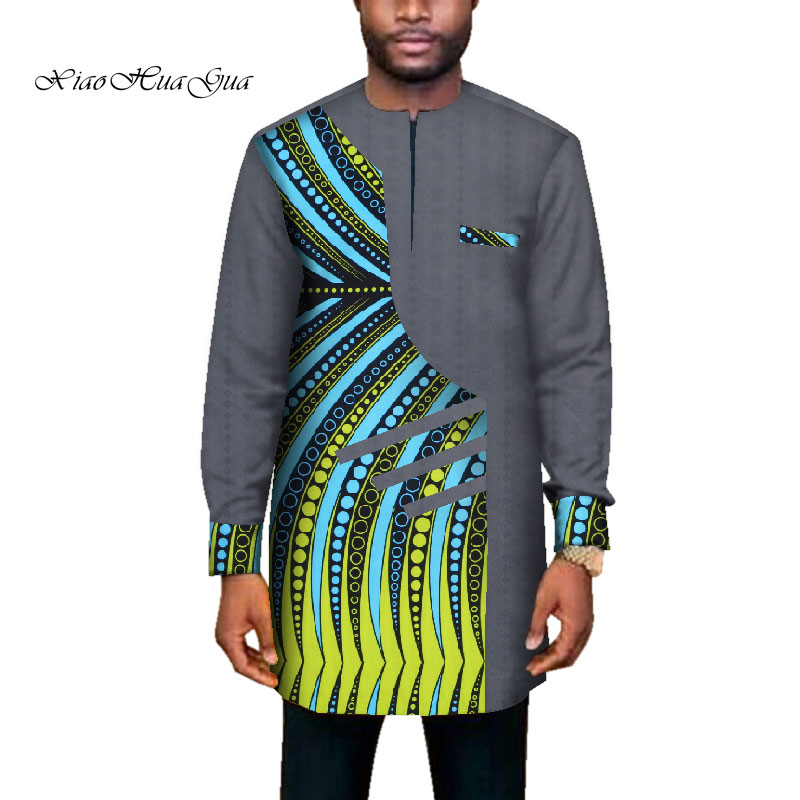 2020 Trend African Men Clothes Male Long Sleevepatchwork Dashiki Long Top African Print Causal Wedding African Clothing Wyn669 Aliexpress