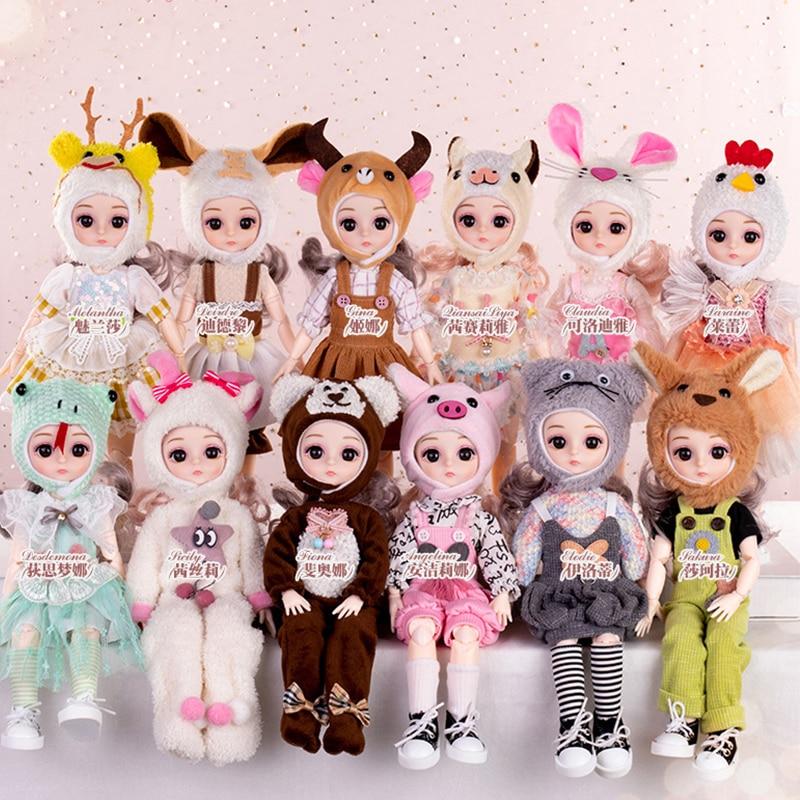 30CM Bjd Toy 12 Chinese Zodiac BJD Doll Beauty Princess Dress Girl Dolls With Clothes DIY BJD Doll Handmade Gifts Kids HC0216