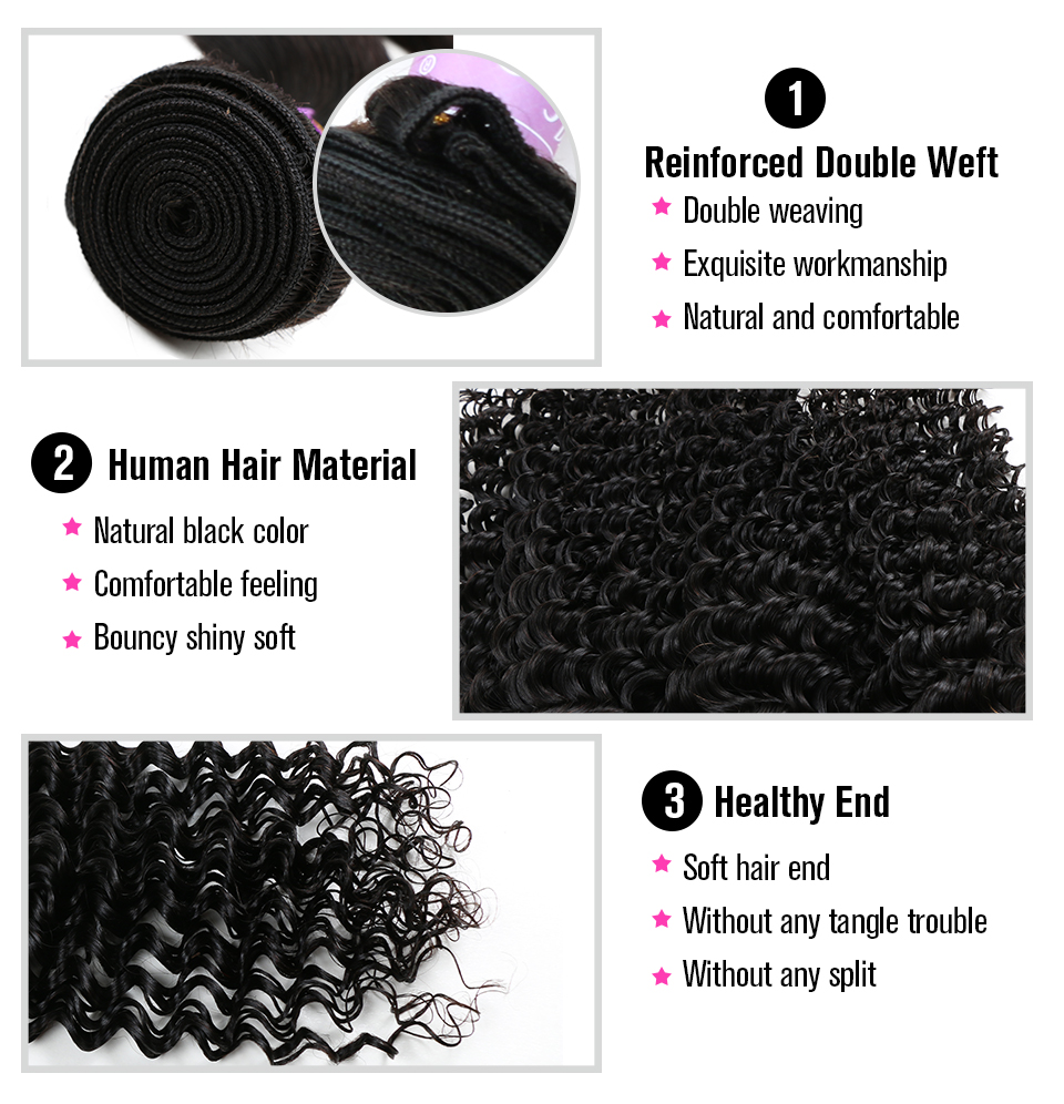 Alishes Hair Brazilian Deep Wave Bundles With Frontal Ear To Ear Human Hair Lace Frontal Closure With Bundles 4PCS/LOT Remy Hair-in 3/4 Bundles with Closure from Hair Extensions & Wigs    3