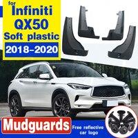 펜더 원래 자동차 구멍 위치 부드러운 접착제 머드 가드 보호 수정 자동차 액세서리 인피니티 qx50 2018 2019