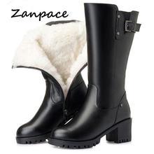 Женские зимние теплые ботинки zanpace новинка 2020 модная женская