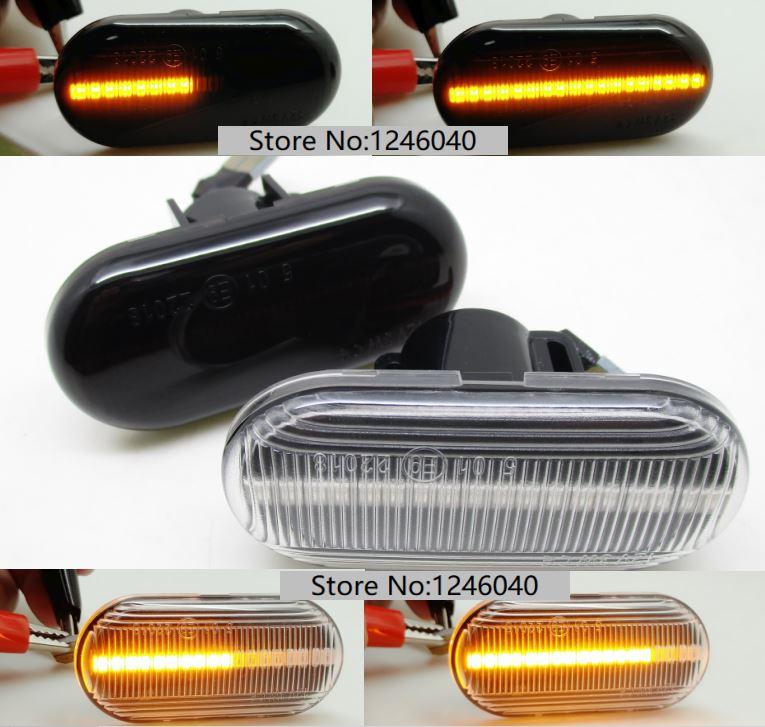 2PCS Led Dynamic Side Marker Turn Signal Light Sequential Blinker Light For Renault CLIO ESPACE KANGOO MEGANE LAGUNA MASTER 19