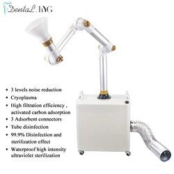 Dental Externe Oral Aerosol Saug Einheit Tragbare Saug Einheit Maschine UV-licht + 3 Filter