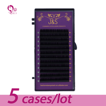 J&S 5 trays set, 0.03 0.05 0.07 0.10mm Thickness silk eyelashes extensions , C D DD curl,12lines/tray