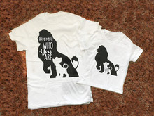 Daddy and Me Outfits Lion King T-Shirt Family Matching Outfit DAD and KIDS Cotton O-Neck Short Sleeve T Shirt my daddy and me