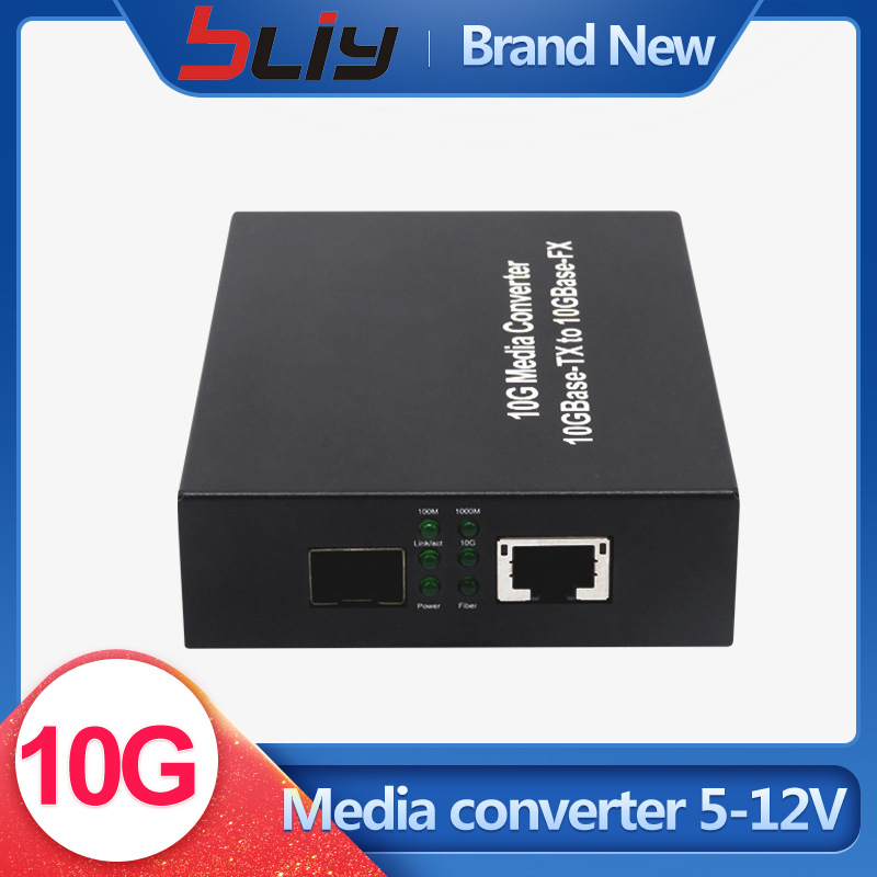 10G media converter SFP to RJ45 10GBase-TX and 10GBase-FX without module