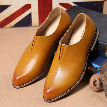 New Fashion Male wedding Business dress Men Pointed Toe Oxfords Man office dress leather shoes erf567