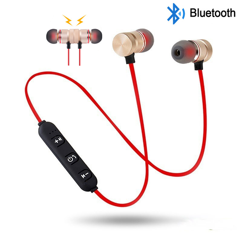 Magnetic Wireless Bluetooth Earphone Music Headset Phone Stereo Sport Neckband Earbuds Earphone With Mic For All Smartphones