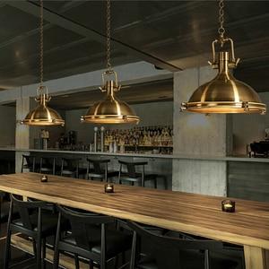 Image 5 - 3 סגנון לופט רטרו תעשייתי תליית חומרת מתכות תליון מנורת בציר E27 LED אורות למטבח בר קפה אור גופי