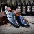 4000344283996 - Sipriks para Hombre Zapatos de doble correa de monje zapatos de cuero genuino negro hebilla zapatos de esmoquin Formal de alta calidad