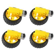 Электрический двигатель постоянного тока с пластиковым мотором TT колесо для шин 3-6 в двойной вал мотор-редуктор TT Магнитная коробка передач двигатель для Arduino умный автомобиль