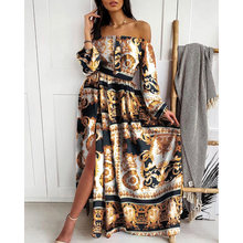 Vintage sexy strapless off shoulder ball gown maxi dresses women