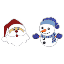 New Cute Merry Christmas Snowman Santa Brooch Pin For New Year Christmas Alloy Brooch Jewelry Best Gift For Friends Family new alloy gorgeous fashion christmas theme snowman cane santa claus color pendant bracelet bracelet christmas best gift jewelry
