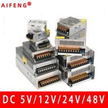 AIFENG импульсный источник питания 110 В/220 В до 5 в 12 В 24 в 48 в Светодиодный источник питания CCTV/Светодиодная лента AC в DC источник питания адаптер