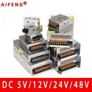 AIFENG switching power supply 110V/ 220V to 5V 12V 24V 48V led power supply CCTV / LED Strip AC to DC source power Adapter(China)