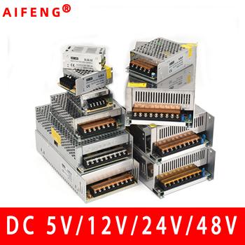 AIFENG zasilacz impulsowy 110 V 220 V do 5V 12V 24V 48V zasilacz LED CCTV taśma LED AC do źródła prądu stałego zasilacz tanie i dobre opinie 110v 220v to 5v 12v 24v 48v Single 500W