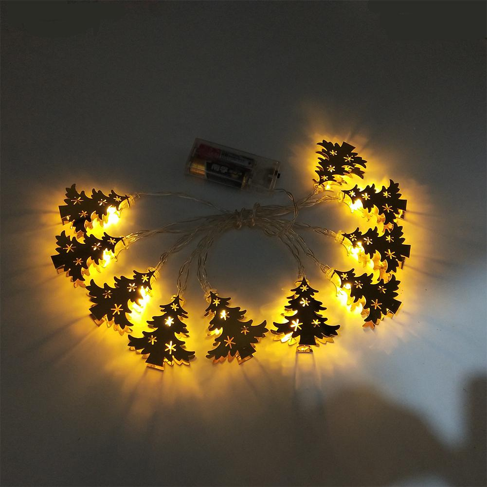 HobbyLane Xmas LED String Lights Wrought Iron Christmas Tree Lights String Holiday Party Garden Decoration For Home Kid Room