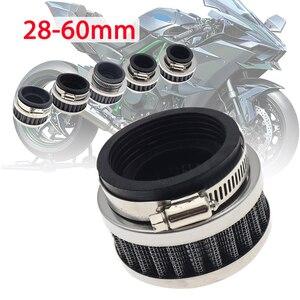 28 мм-60 мм Универсальный воздушный фильтр из нержавеющей стали для мотоцикла очиститель для 50cc-250cc мотоцикл ATV Pit Dirt Bike Go Kart скутер