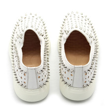 Classic Rivet Slip On Loafers Hollow Out Breathable Flat Shoes  PU27