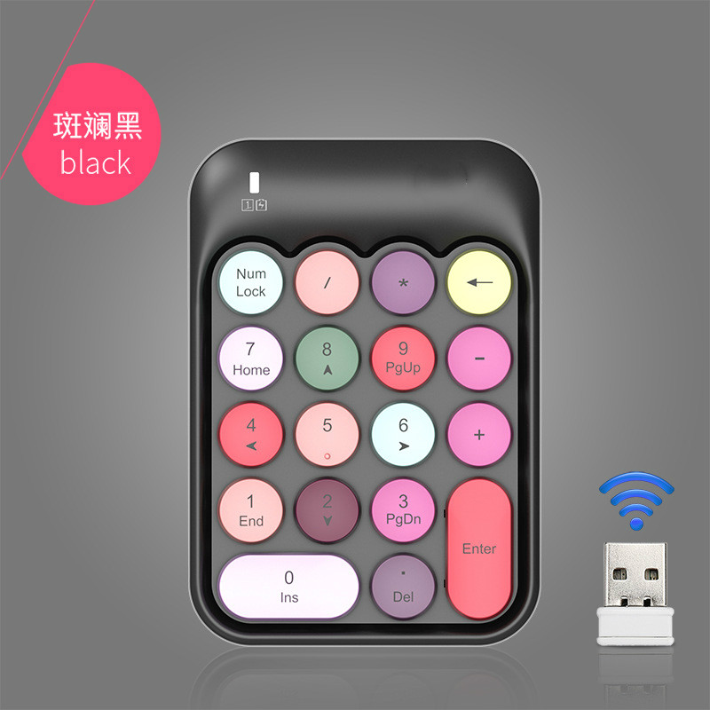 Купить mini cute 24g color key wireless numeric keyboard portable and