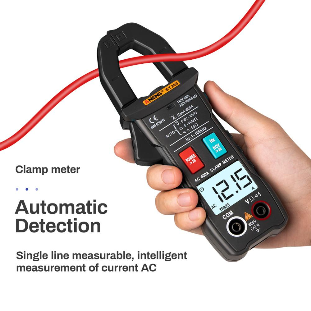 ANENG <font><b>ST203</b></font> Auto Digital Clamp Meter Multimeter 4000counts True RMS Mini Amp DC/AC Clamp Meters Voltmeter 400v Automatic Range image