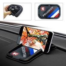 Interor decorativo para teléfono móvil, almohadilla antideslizante fija para Peugeot 206, 207, 307, 3008, 2008, 308, 408, 508, 301, 208, accesorios, 1 Uds.
