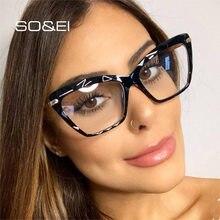 SO & EI Ins – lunettes en cristal ultra-léger pour hommes et femmes, monture à verres clairs, multi-coupe, tendance, rétro