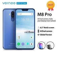 Vernee M8 Pro 6.2''notch Screen Smartphone 6GB 64GB Android 8.1 Octa core Cellphone 4100mAh AI Dual camera Fast charging phone(China)