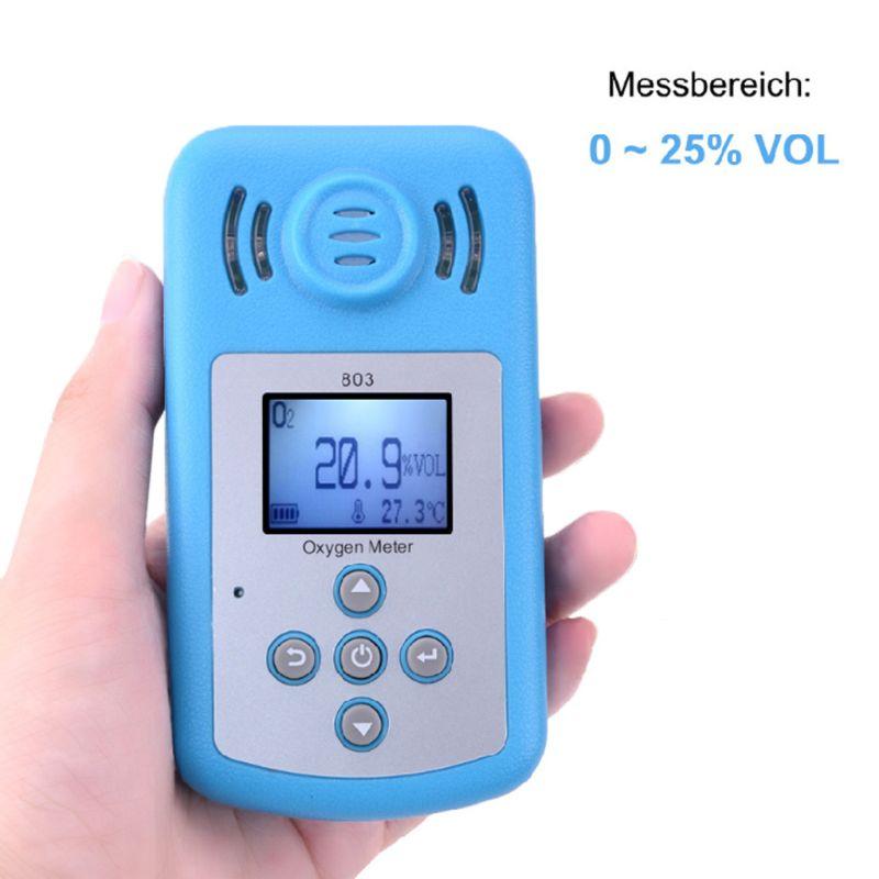 Analyseur de gaz de détecteur de Concentration O2 d'alarme de Vibration de lumière sonore d'affichage à cristaux liquides de mètre d'oxygène tenu dans la main de KXL-803
