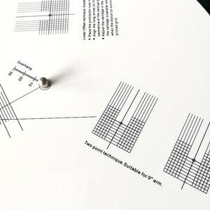 Image 4 - Giradischi Goniometro Stilo HIFI Cartuccia di Allineamento Distanza Calibro Phono LP In Vinile Strumento di Regolazione Piastra di Calibrazione Zerbino Righello