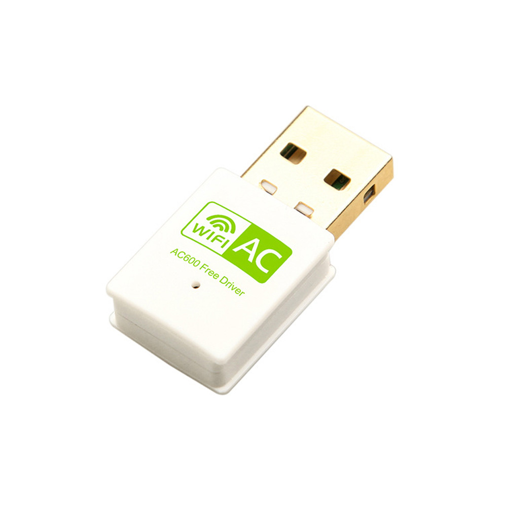 802.11AC Dual Band 2.4GHz 5GHz WiFi Antenna Mini Wireless Network Card Receiver 600Mbps USB WiFi Adapter  For Desktop Laptop PC
