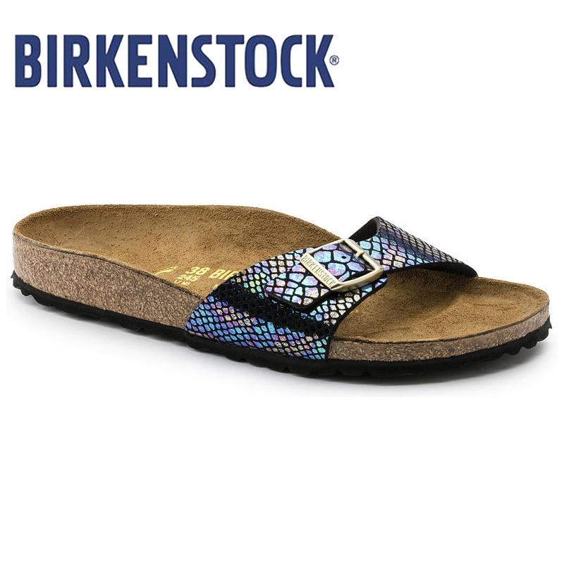 Birkenstock 2019 Women Slippers Flip Flops Summer Women Bling Beach Slides Sandals Casual Shoes Madird Sandalias Hombre Mujer
