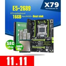 HUANANZHI X79 Motherboard LGA 2011 Combos E5 2689 CPU  4pcs x 4GB = 16GB DDR3 RAM 1600Mhz PC3 12800  PCI E NVME M.2  Heat Sink