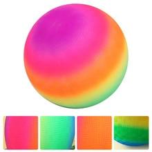 1 Pc Children Rainbow-Color Balls Inflatable Balls Outdoor Kickball