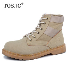 TOSJC Autumn Mens Ankle Motorcycle Boots Male Lace-up Western Boots Handsome Army Tactical Boots Tough Desert Military Work Boot tosjc 2