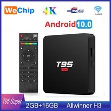 アンドロイド10スマートtvボックスT95スーパースマートアンドロイドテレビボックスallwinner H3 gpu G31 2ギガバイト16ギガバイトwifiワイヤレス4 18k youtueb hdメディアプレーヤー