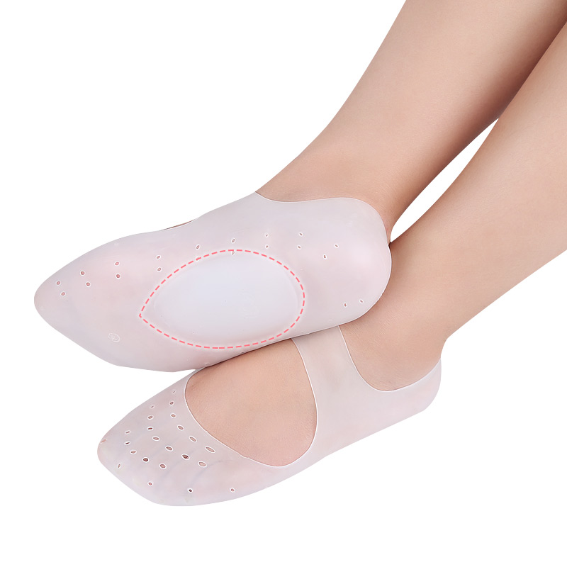 Silicone Gel Compression Moisturizing Socks Flat Foot Arch Support Orthopedic Insoles Plantar Fasciitis Cracked Heel Feet Care