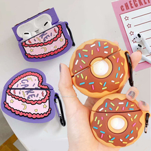 For Airpods Pro 3D Cute Simulation Food Heart Cake Earpods Case for Apple Airpod